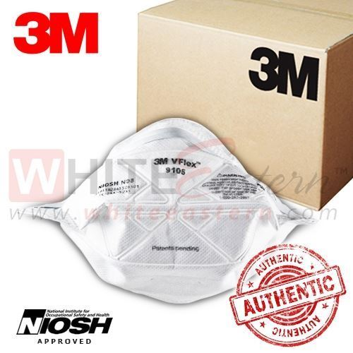 Picture of 3M 9105 VFlex N95 Particulate Respirator Mask, 400 Pieces