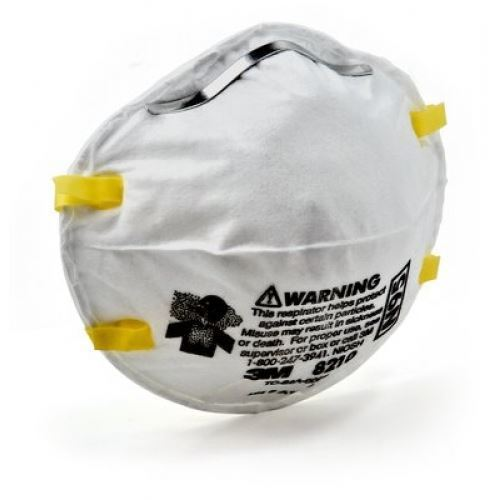 Picture of 3M 8210 N95 Particulate Respirator Mask, 5 Pieces