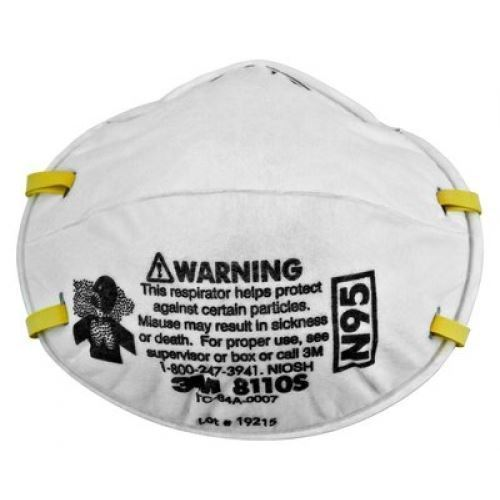 Picture of 3M 8110S N95 Children Particulate Respirator Mask, 160 Pieces