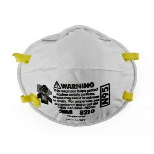 Picture of 3M 8210 N95 Particulate Respirator Mask, 160 Pieces