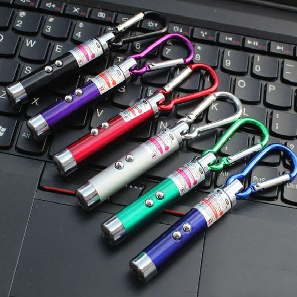 Picture of 3-in-1 Laser Pointer, LED UV and White LED Keychain Flashlight