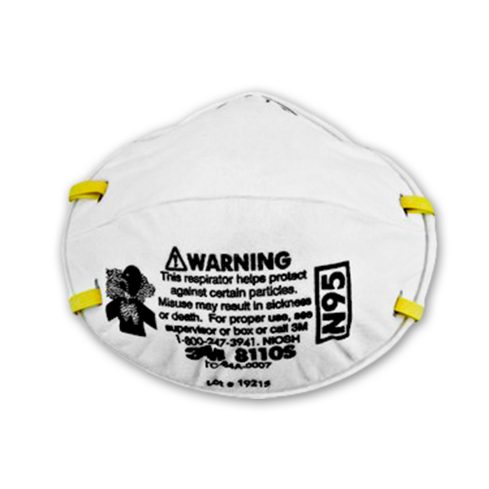 Picture of 3M 8110S N95 Children Particulate Respirator Mask, 5 Pieces