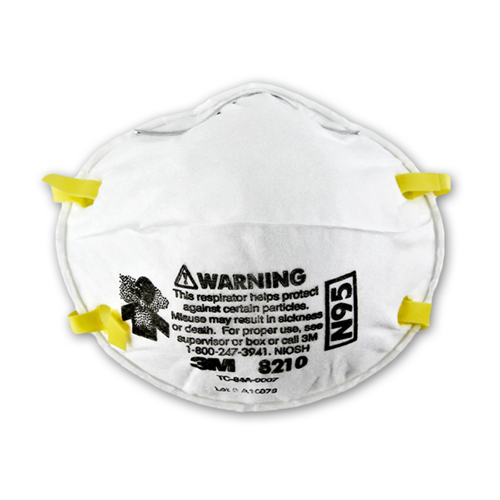 Picture of 3M 8210 N95 Particulate Respirator Mask, 10 Pieces