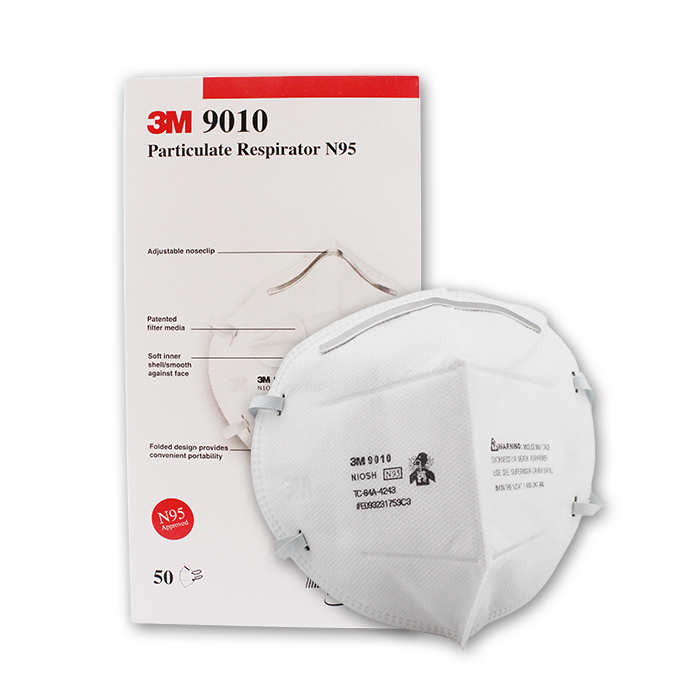 Picture of 3M 9010 N95 Particulate Respirator Mask, 50 Pieces