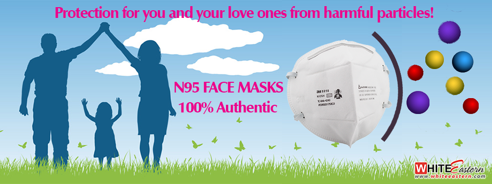 White Eastern 3M N95 Face Respiratory Mask